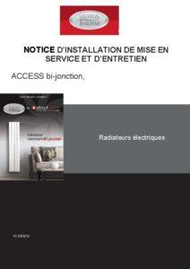 Notice technique ultratherm access juillet 2020